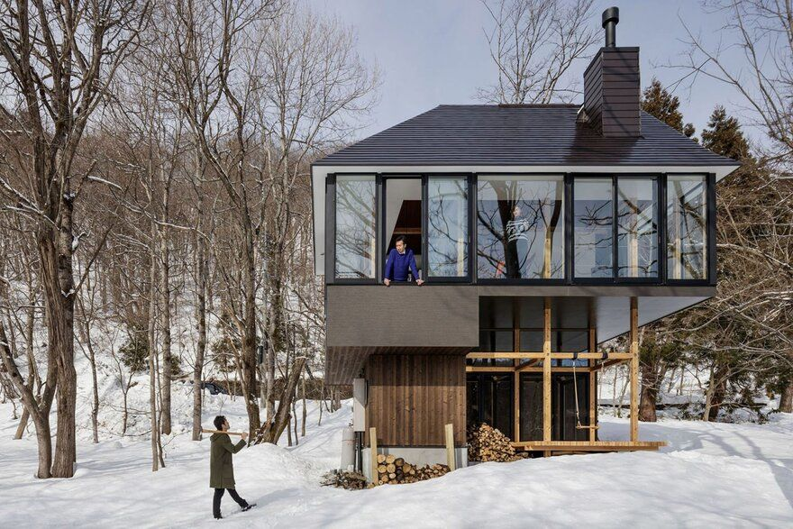 Lakeside Cottage at Nojiri-ko, Japan / SUGAWARADAISUKE Architects