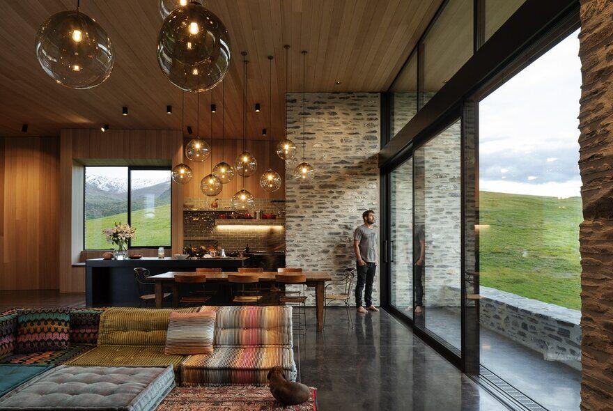 living room, kitchen, RTA Studio