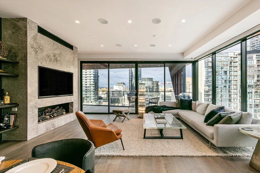 living room by Finnis Architects