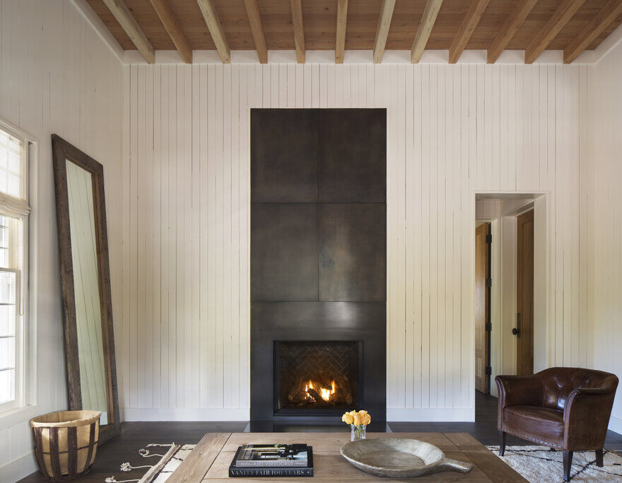 fireplace, Napa, California by Richard Beard Architects