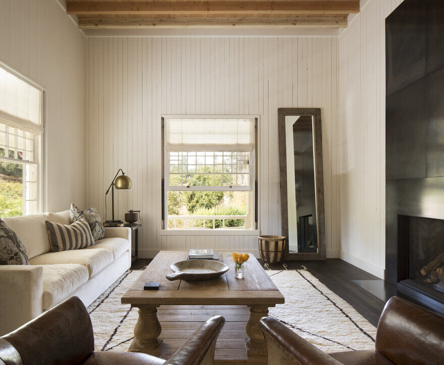 living room, Napa, California by Richard Beard Architects