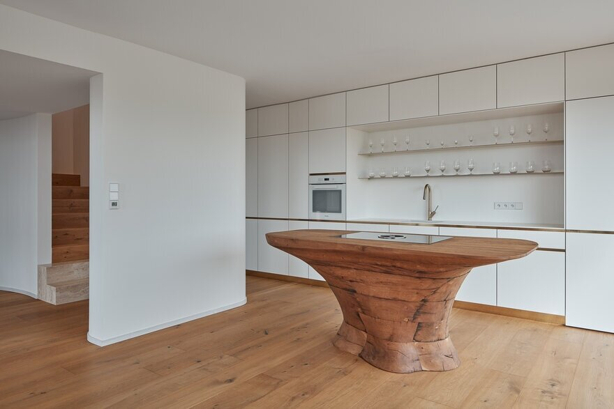 kitchen, Reconstruction of an Rural Residence by Atelier SAD