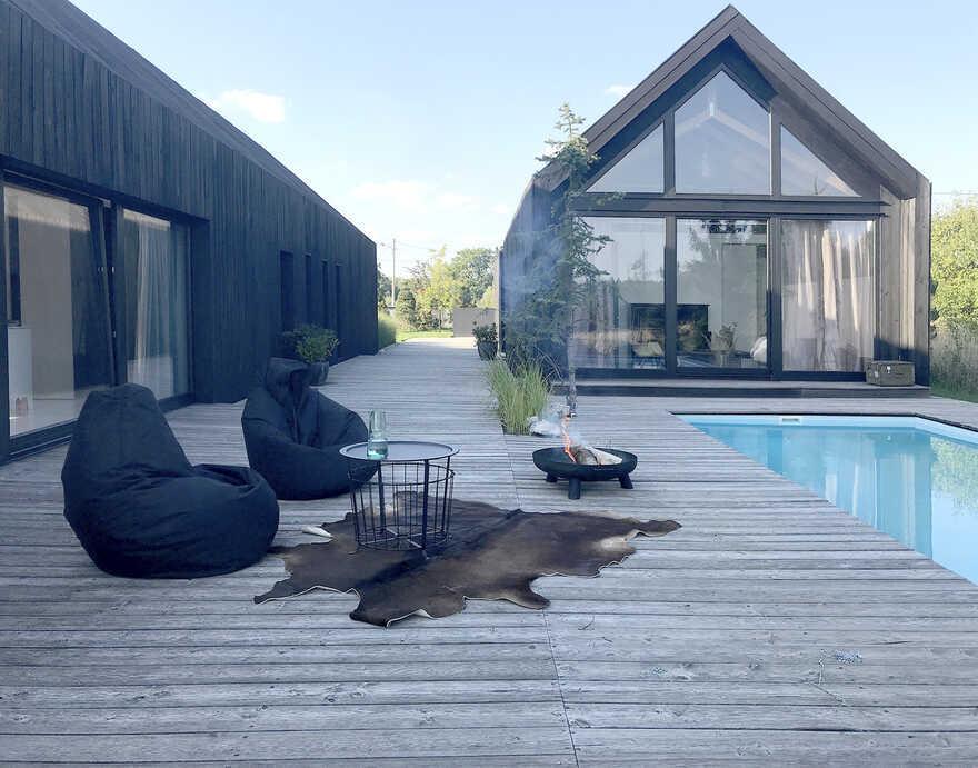 terrace, pool, Silesia, Poland / Gornik Architects