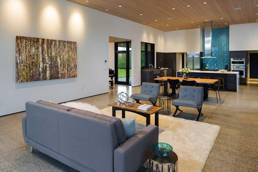 Confluence House, living room