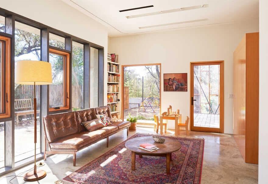 living room, Austin / Murray Legge Architecture