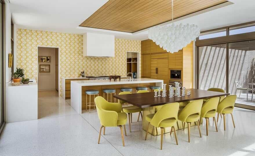 kitchen, Updating a Mid-Century Modern Residence Near Palm Springs