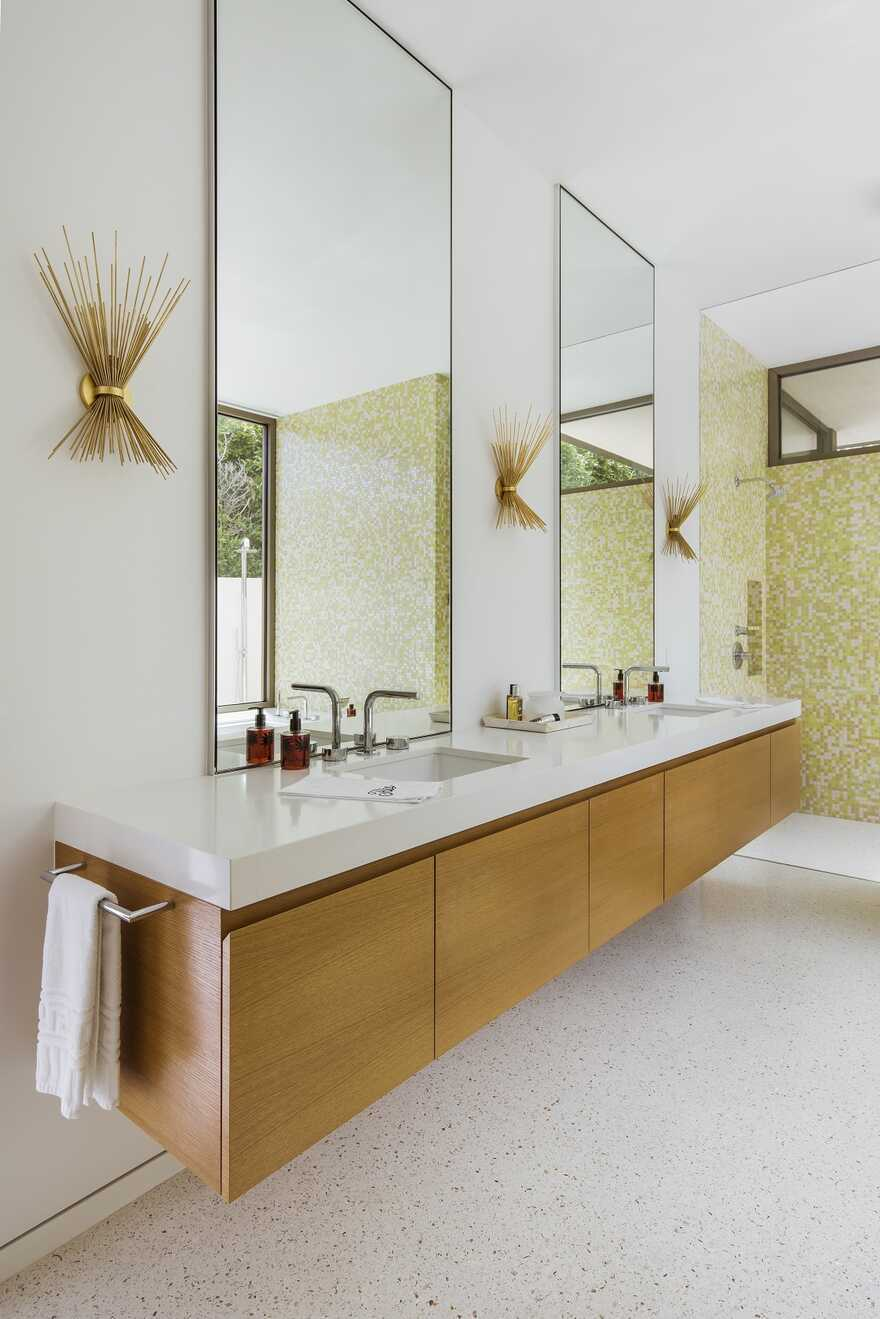 bathroom, Updating a Mid-Century Modern Residence Near Palm Springs