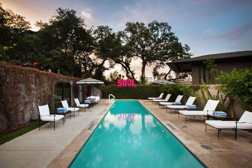 a Sophisticated Hotel Merging History with Contemporary Style in Austin, Texas