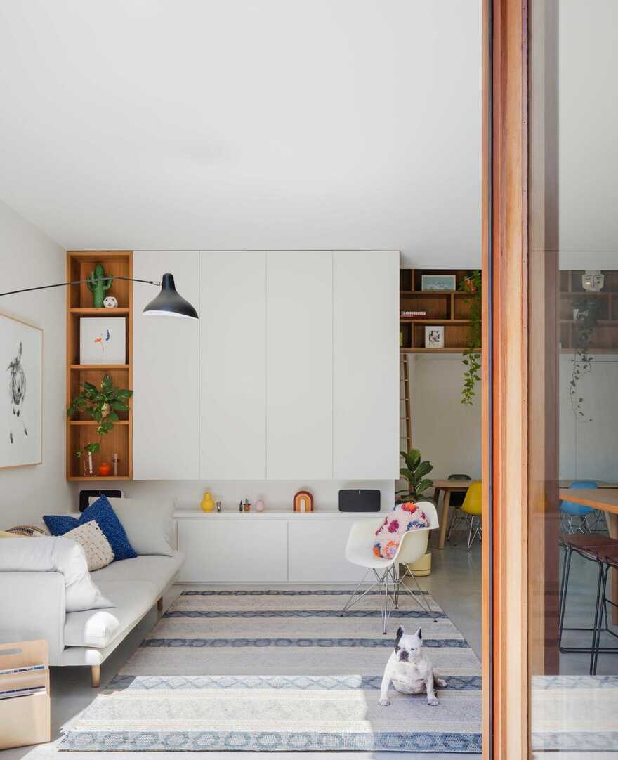 Inspired by the Traditional Japanese Townhouses of Kyoto, living room