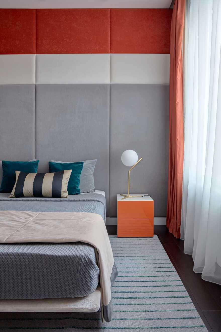 bedroom, architect Maksim Novinkov