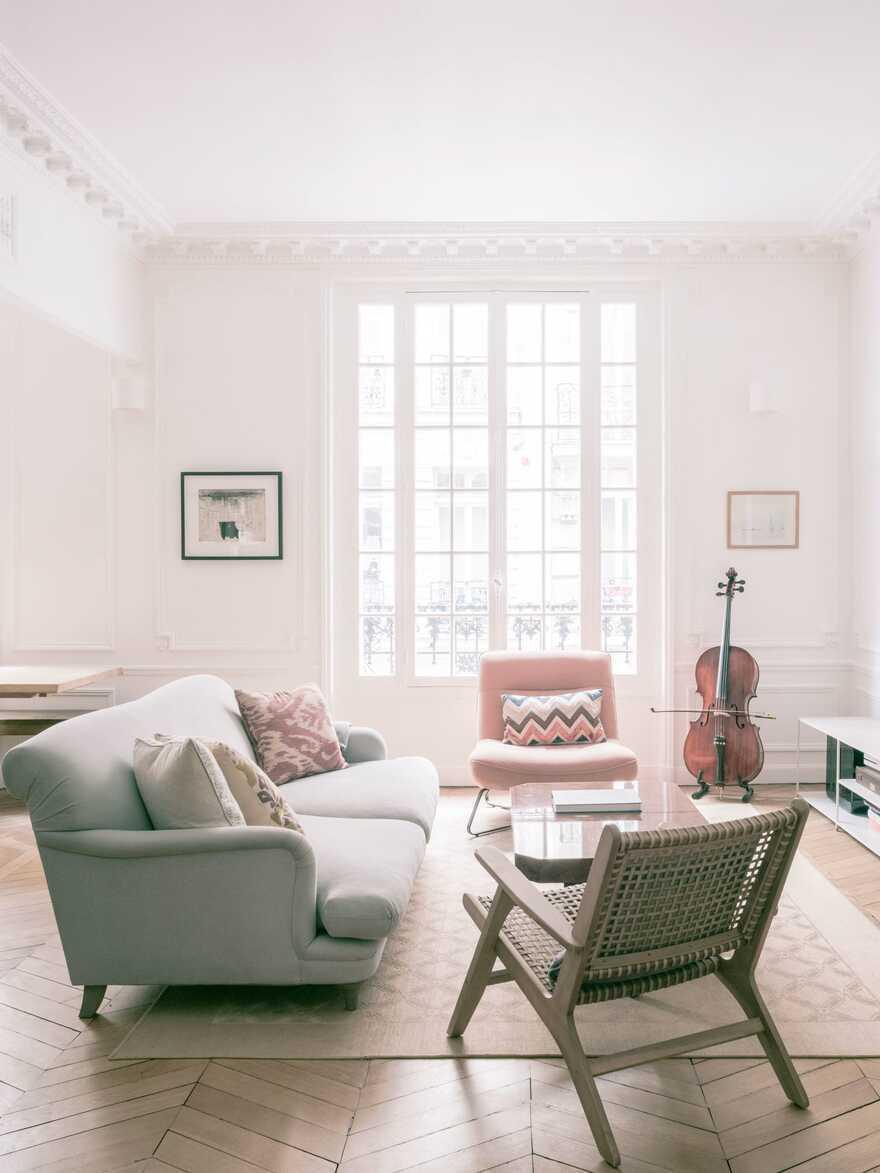 living room, Paris / Nathalie Eldan Architecture