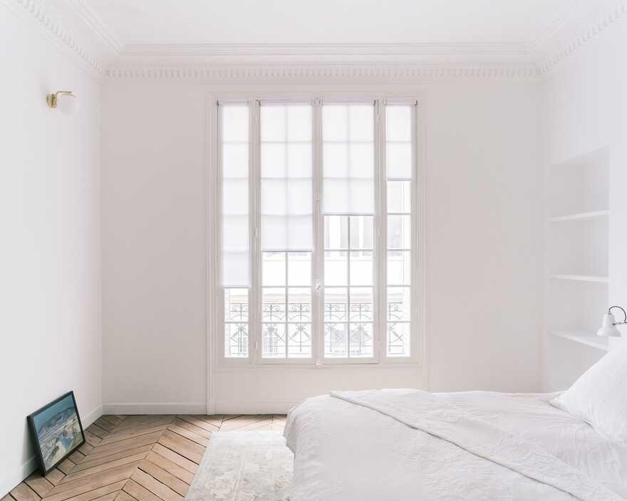bedroom, Paris / Nathalie Eldan Architecture