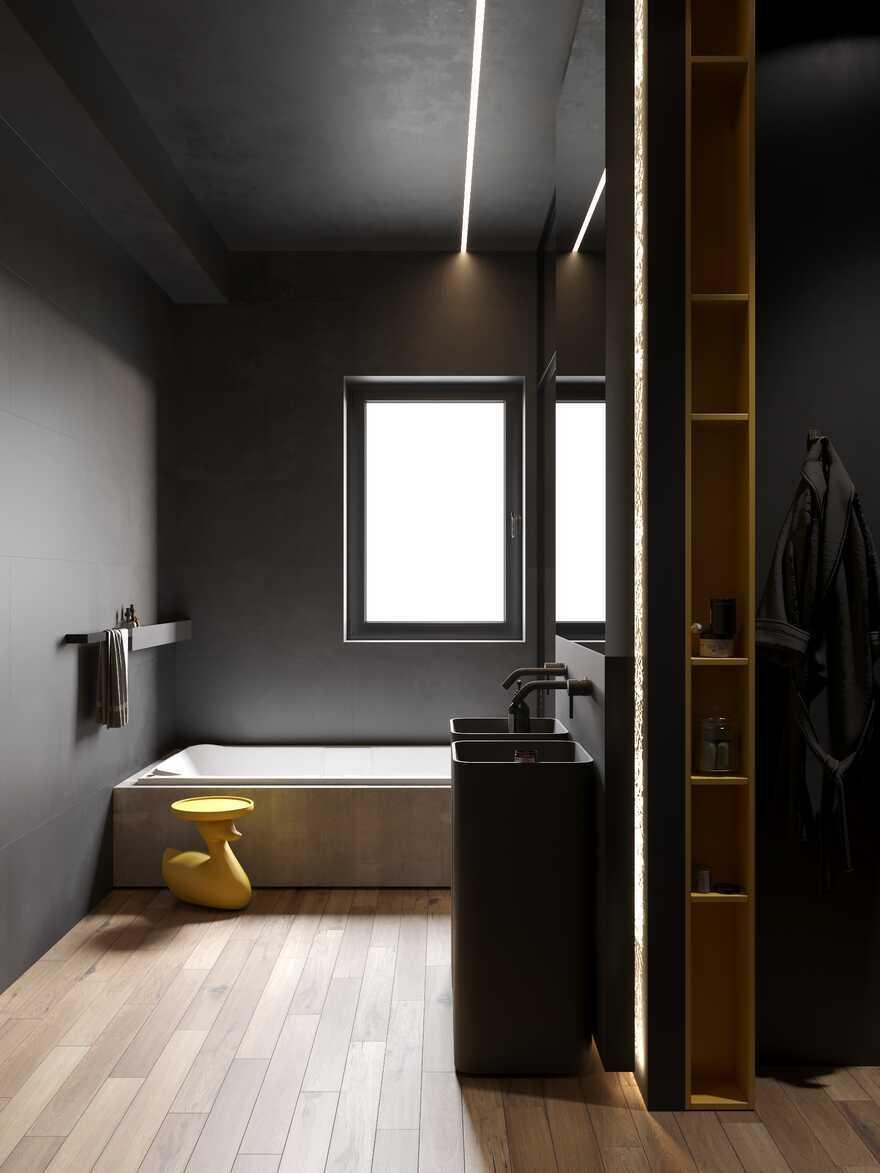 bathroom, Moscow / Cartelle Design