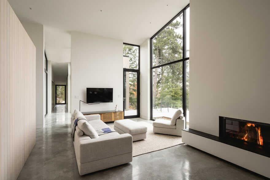 living room, Québec / Natalie Dionne Architecture