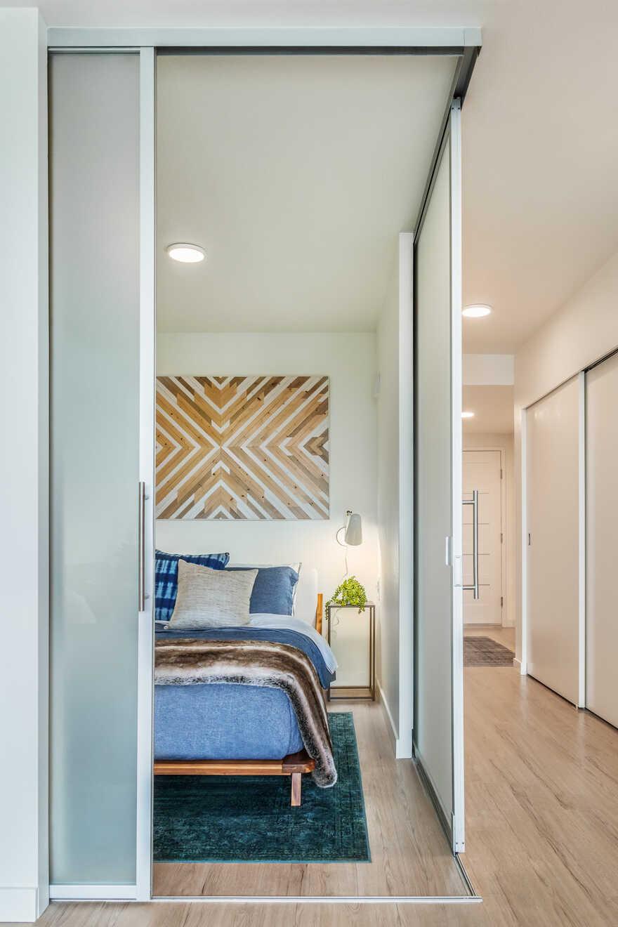 bedroom, Board & Vellum