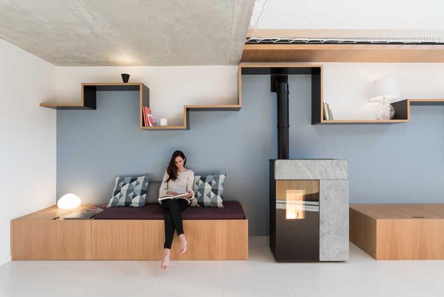 Around the Net House in Courdimanche, France / Martins Afonso Atelier de Design