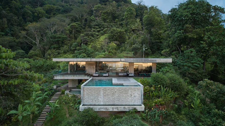 Art Villa on a Hillside Over the Pacific Ocean, Costa Rica
