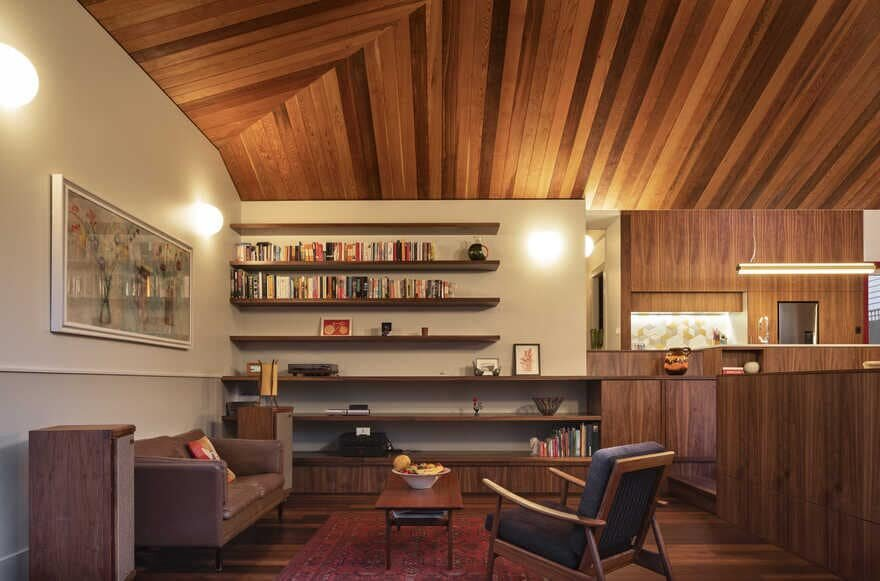 living room, a Renovated Family-House in Auckland by Pac Studio