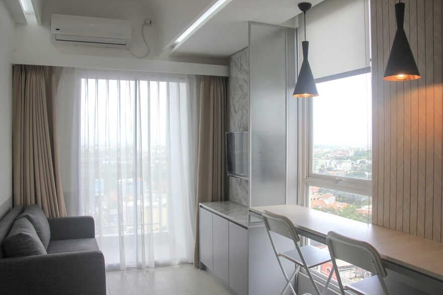 Black and White Slow Living Student Apartment