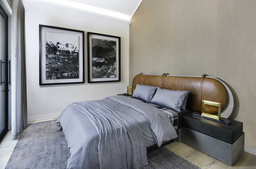 bedroom, Johannesburg / Daffonchio Architects