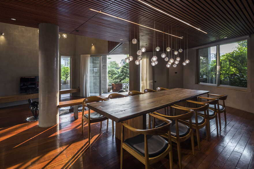 dining room / Vo Trong Nghia Architects