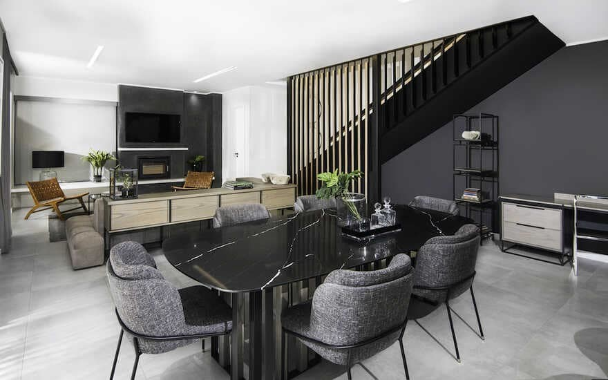 living room, Johannesburg / Daffonchio Architects