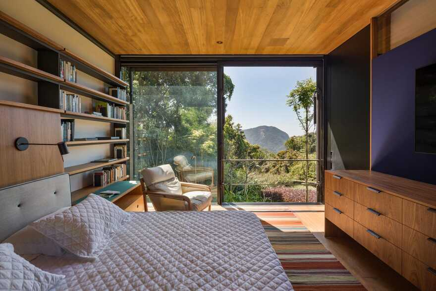 bedroom, Private Retreat Adjacent to the Tijuca National Park, Olson Kundig
