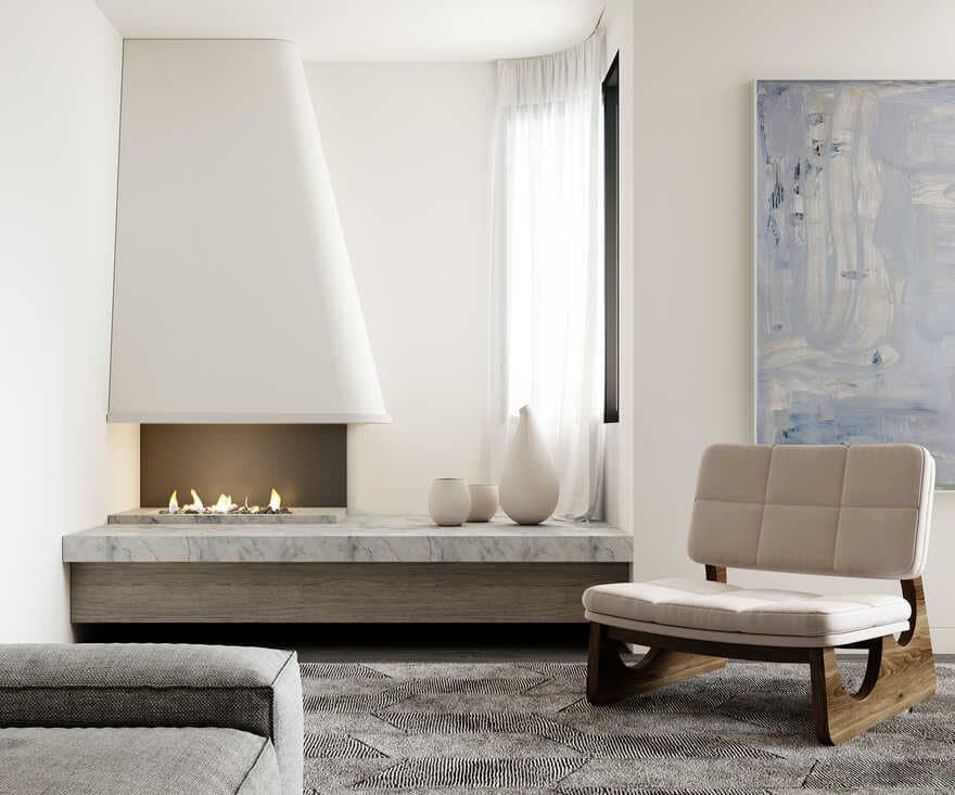 fireplace / Luigi Rosselli Architects