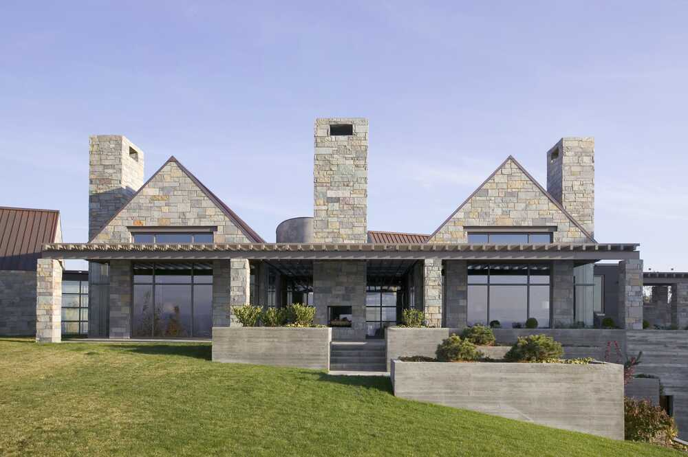 Stuart Silk Architects Designs Selah Residence, a Modern Stone Farmhouse