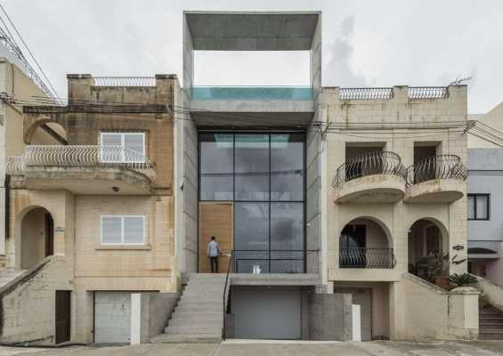 La Valletta House by Architrend Architecture: Light, Water, Glass and Exposed Concrete