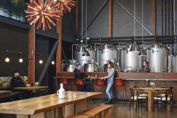 Modern Pole Barn Brewery in Southwest Michigan