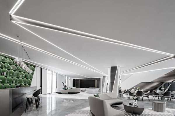 A Minimalist and Futuristic Sales Office from Shanghai