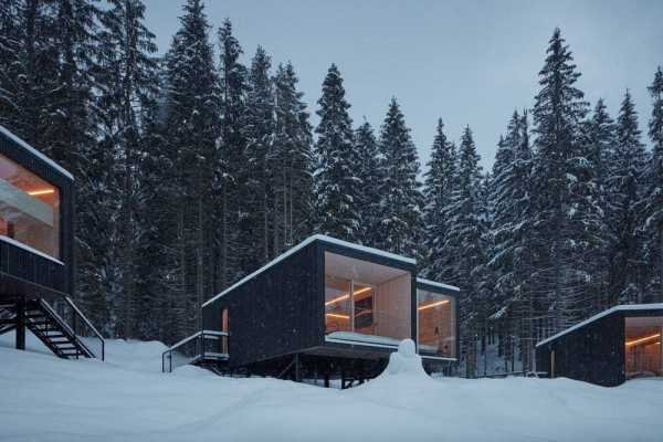 Shelters Designed and Crafted for Hotel Bjornson