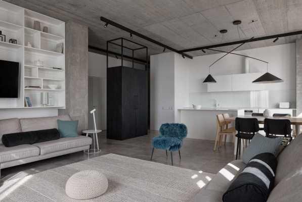 Deep Gray Apartment by Azovskiy + Pahomova