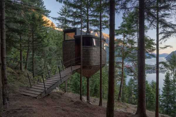 Woodnest Treehouses by Helen & Hard