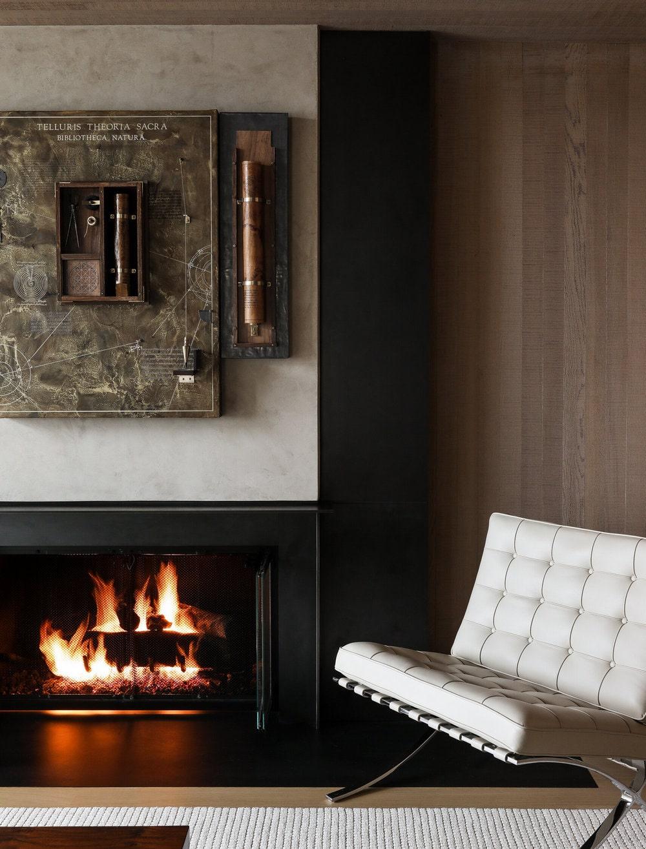 fireplace, Graham Baba Architects